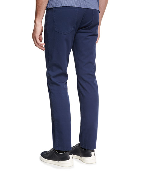 New Pique Five-Pocket Pants, Navy