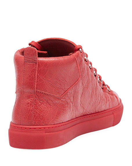 Men's Arena Leather Mid-Top Sneaker