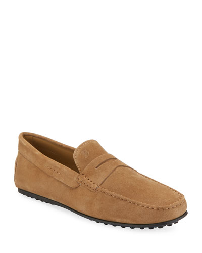 0e4616b0340 Promotion City Gommini Suede Penny Loafer Tan Quick Look. Tod s