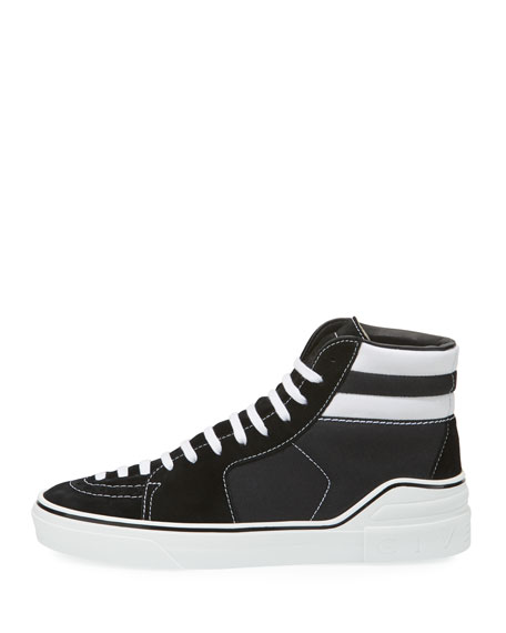 George Canvas High-Top Sneaker, Black/White