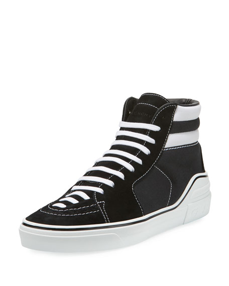 George Canvas High-Top Sneaker, Black/White