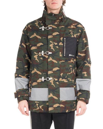 Camouflage Fireman Utility Jacket  Green