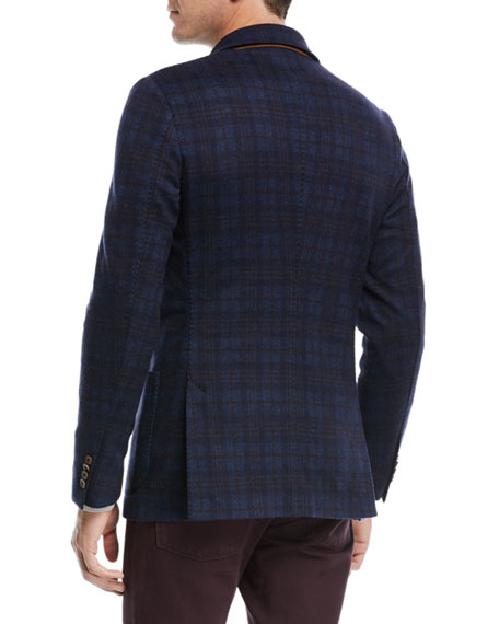Overcheck Knit Sport Coat