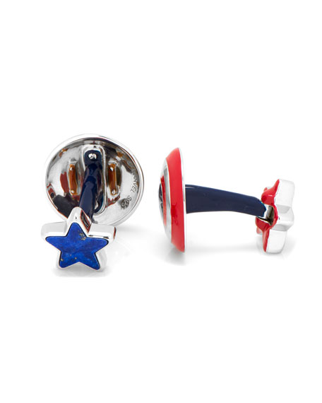 3D Captain America Cuff Links