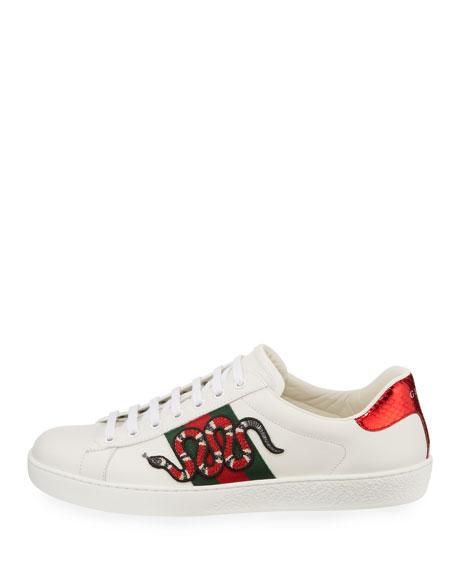 New Ace Men's Snake Sneakers, White