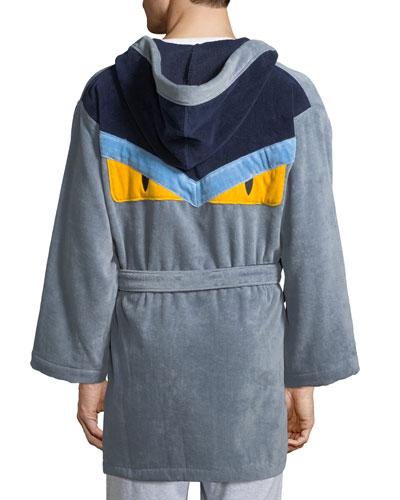 Monster Hooded Robe  Gray/Blue