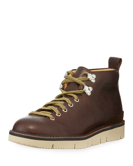 Image 1 of 1: Leather Lace-Up Boot