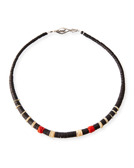 Image 1 of 1: Men's Beaded Necklace