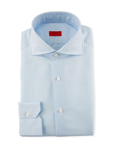 Solid Cotton Dress Shirt