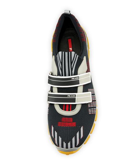 Men's Nylon Tech Sneakers with Double Grip-Strap