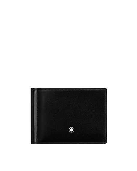 Image 1 of 1: Meisterstuck Leather Bifold Wallet with Money Clip, Black