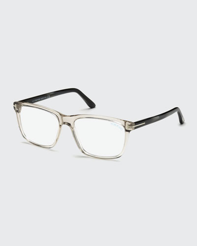 Square Acetate Optical Glasses  Gray