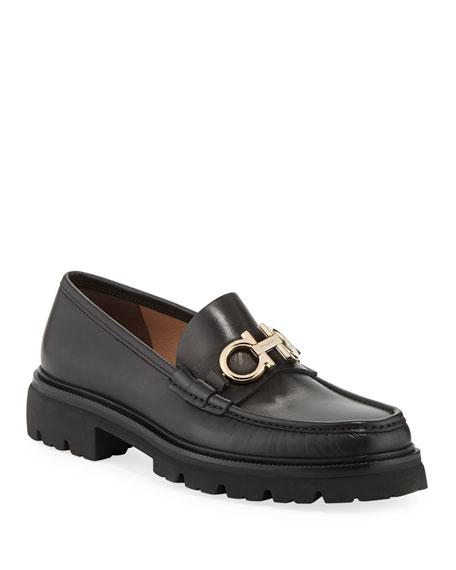 0ba81ac9fff Salvatore Ferragamo Men s Bleecker Leather Lug-Sole Loafers with Reversible  Bit