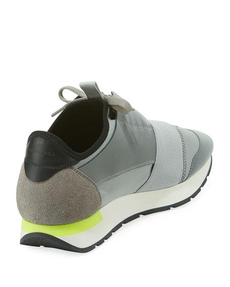 cebe916f518dc Balenciaga Men s Reflective Race Runner Mesh   Leather Sneakers