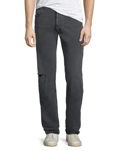 Men's Archetype Knee-Hole Straight-Leg Jeans