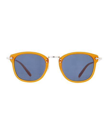 Men's OP-506 Acetate/Metal Sunglasses, Amber