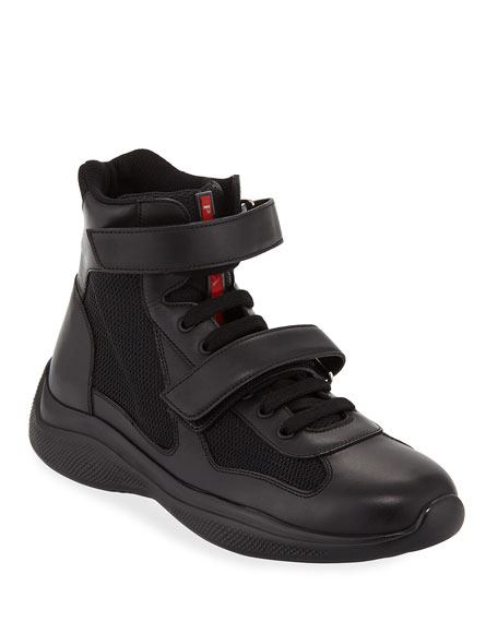 Men's America's Cup Plume Bike High-Top Strap Sneakers