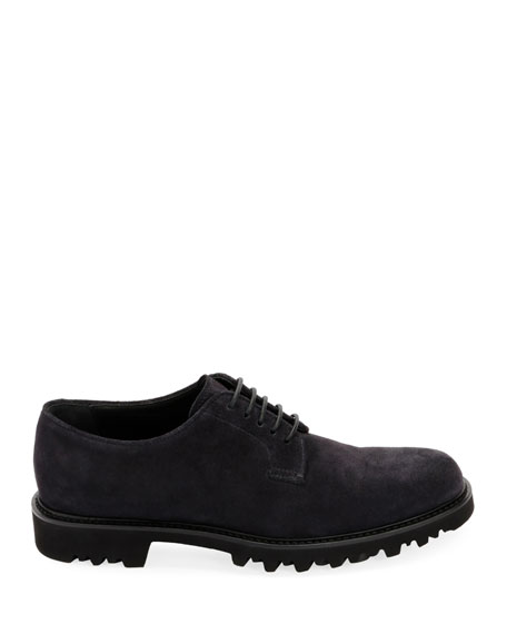 Men's Lugged-Sole Suede Derby Shoe