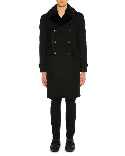 Men's Cashmere Double-Breasted Coat