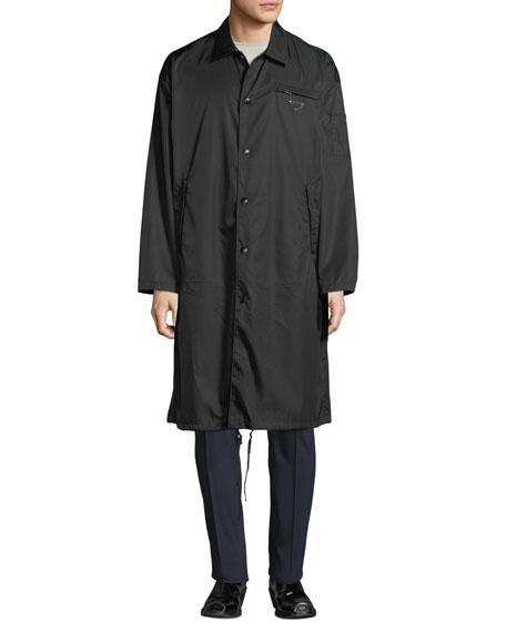 Men's Waterproof Snap-Front Coat