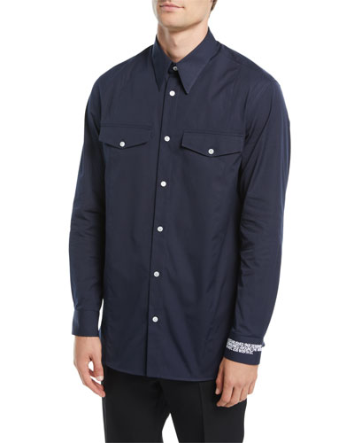 Men's Cotton Pocket Sport Shirt