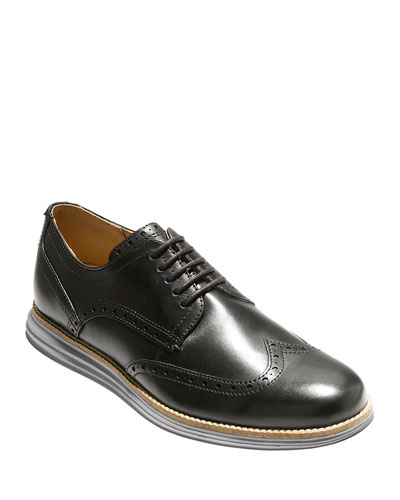 Men's Original Grand Leather Wing-Tip Oxford  Black