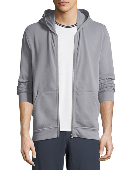 Men's French Terry Zip-Front Hoodie