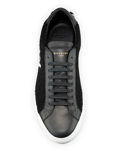 Men's Urban Street Logo-Print Leather Tennis Sneakers