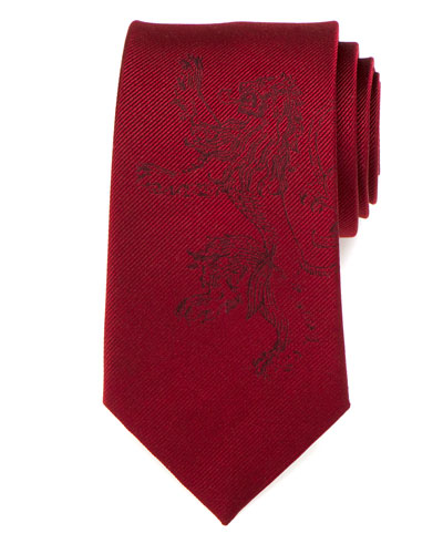 Game of Thrones Lannister Lion Sigil Silk Tie