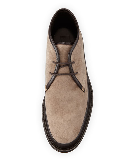 Men's Trivero Suede & Leather Chukka Boots