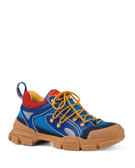 Men's Leather and Canvas Sneakers