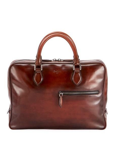 Men's Venezia Mogano Leather Briefcase