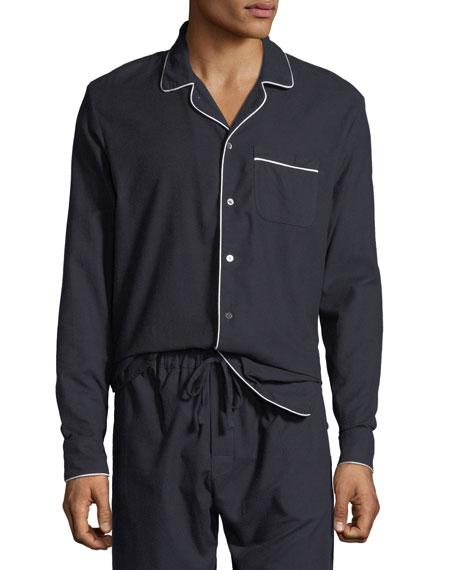 Men's Contrast-Piping Lounge Shirt