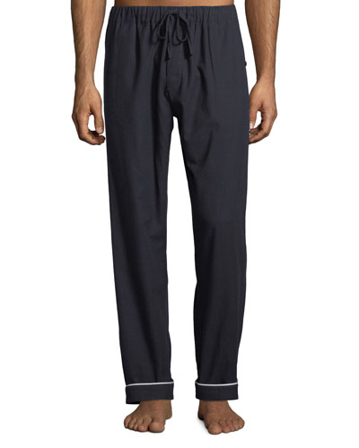 Men's Contrast-Piping Lounge Pants