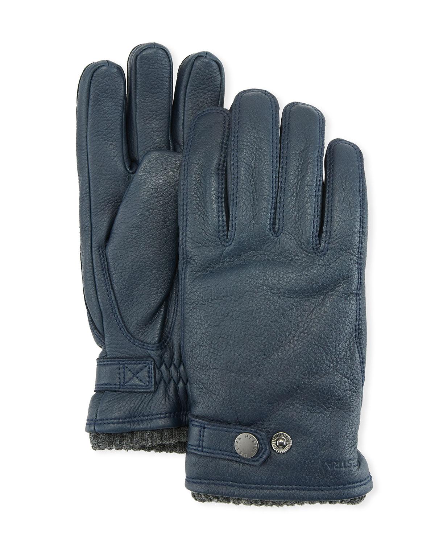 Hestra Gloves Gloves MEN'S UTSJO ELK LEATHER SNAP GLOVES