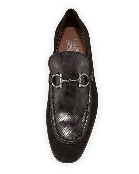 Men's Anderson 2 Leather & Python Bit Loafers