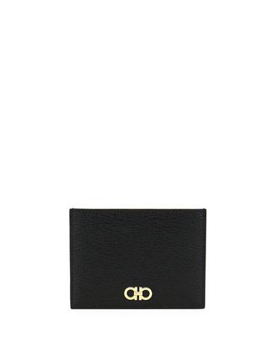 Men's Revival Gancini Leather Card Case