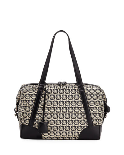 Men's Gancini Jacquard Canvas Dynamo Bag