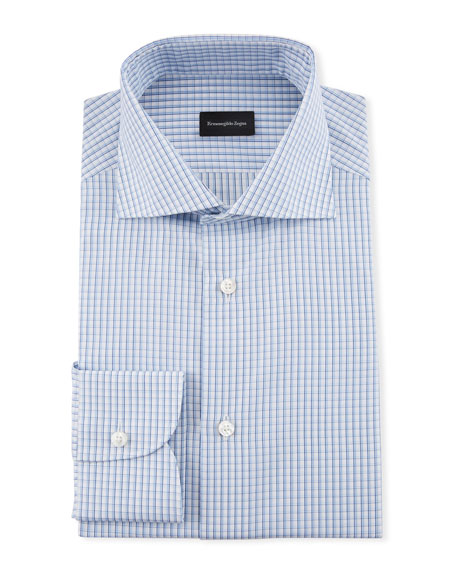Image 1 of 1: Men's Cotton Graph Check Dress Shirt