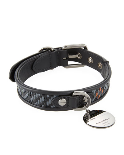 Pelle Tessuta Leather Dog Collar