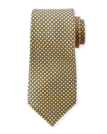 Men's Micro Circles Tie, Yellow