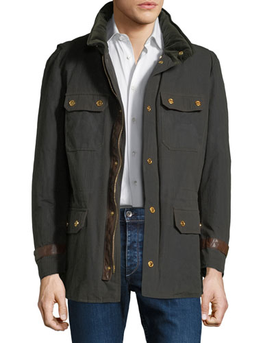 Men's Waxed Cotton Gilet Jacket