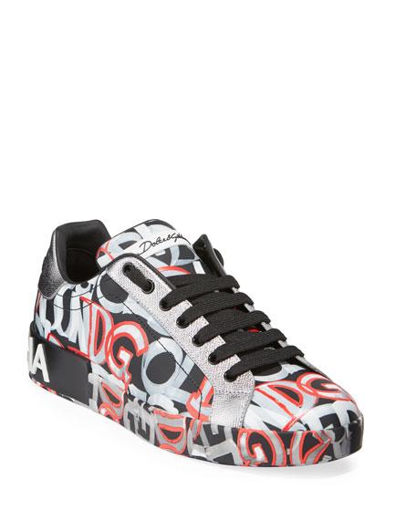 Men's Printed Portofino Sneakers