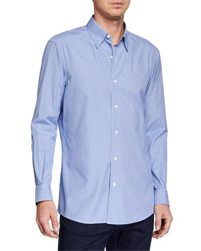 Men's Microcheck Sport Shirt