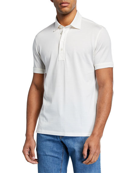 Men's Leggerissimo Cotton Polo Shirt, White