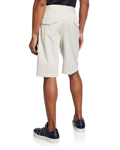 Men's Gurkha-Waist Cotton Shorts