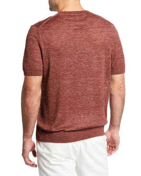 Men's Linen-Cotton Crewneck T-Shirt