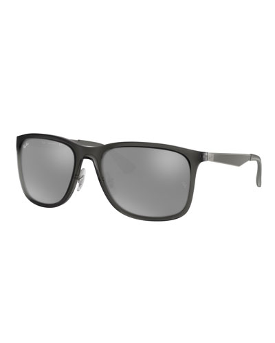 Men's Square Mirrored Propionate Sunglasses