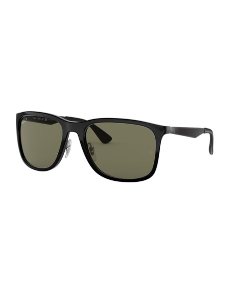 Men's Square Polarized Propionate Sunglasses