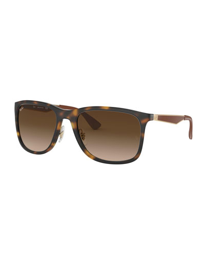 Men's Square Gradient Propionate Sunglasses